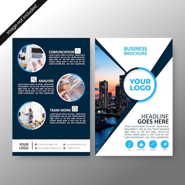 Design de modelo de folheto de negócios Vetor Premium