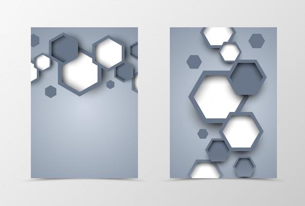 Design de modelo de folheto frente e verso dinâmico Vetor Premium