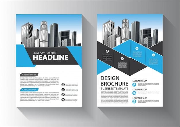 Design de modelo de folheto ou panfleto com cor vermelha e preta Vetor Premium
