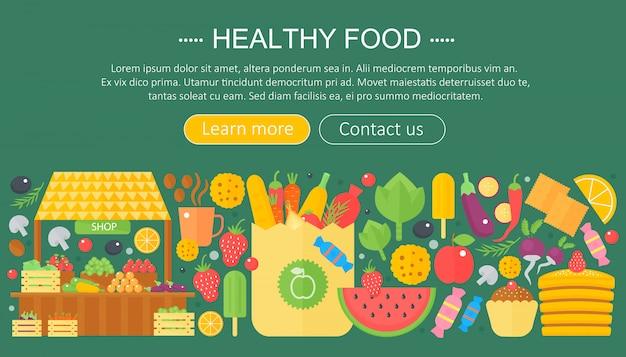 Design de modelo de infográficos de comida saudável Vetor Premium