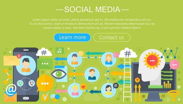 Design de modelo de infográficos de mídia social Vetor Premium
