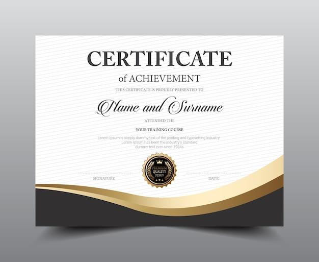 Design de modelo de layout de certificado. Vetor Premium
