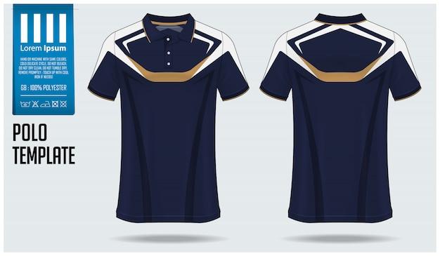 Design de modelo de maquete de camisa polo. Vetor Premium