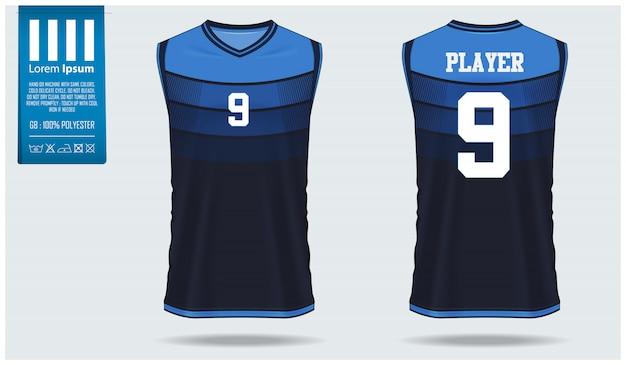Design de modelo de maquete de jérsei de basquete Vetor Premium