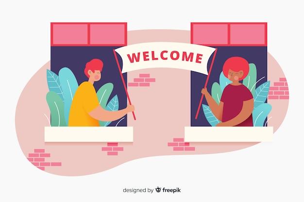 Design de modelo de página de destino para sites da empresa Vetor grátis