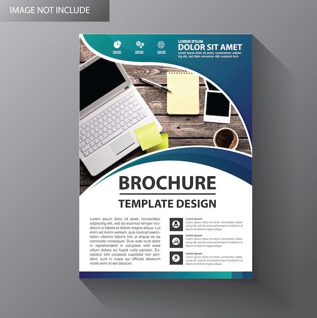 Design de modelo de panfleto para brochura de capa Vetor Premium