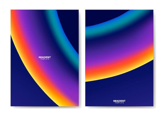 Design de modelo de papel de parede gradiente colorido Vetor grátis
