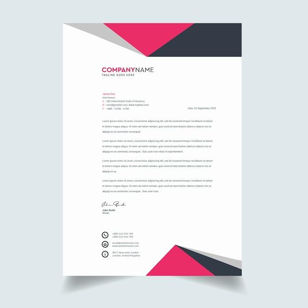 Design de modelo de papel timbrado - empresa moderna Vetor Premium