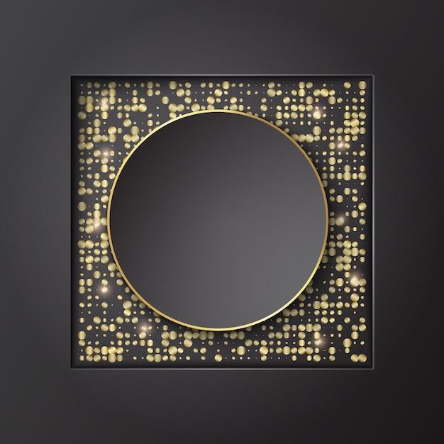 Design de modelo de plano de fundo de banner com glitter. ilustração vetorial Vetor Premium