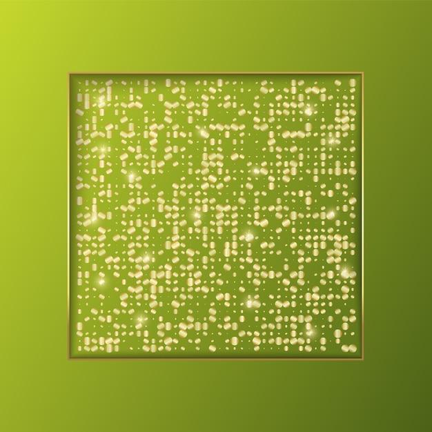 Design de modelo de plano de fundo de banner com glitter Vetor Premium