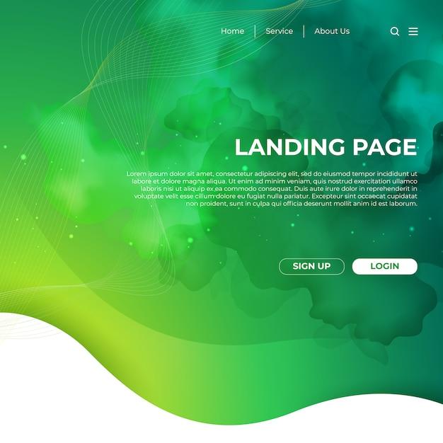 Design de modelo de site e página de destino Vetor Premium