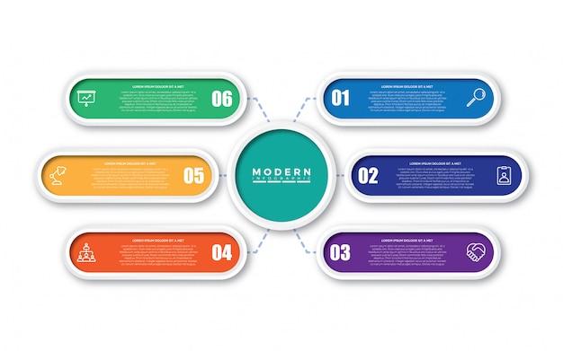 Design de modelo infográfico colorido Vetor Premium