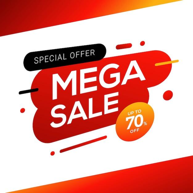 Design de modelos de banner de venda. etiquetas de ofertas especiais Vetor Premium