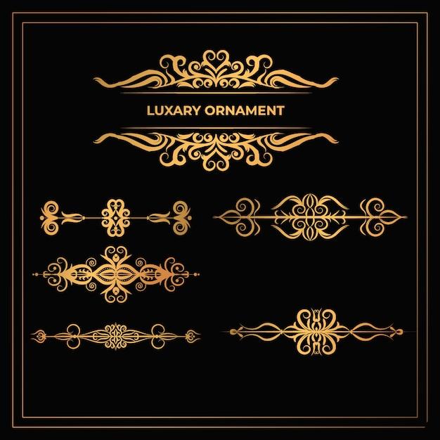 Design de moldura de ornamentos modernos de luxo com flores Vetor Premium