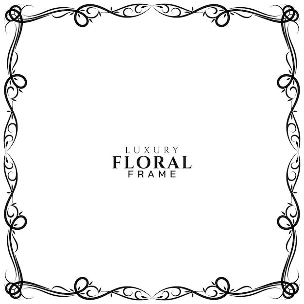 Design de moldura floral decorativa Vetor grátis