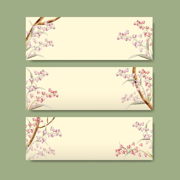Design de moldura floral Vetor grátis