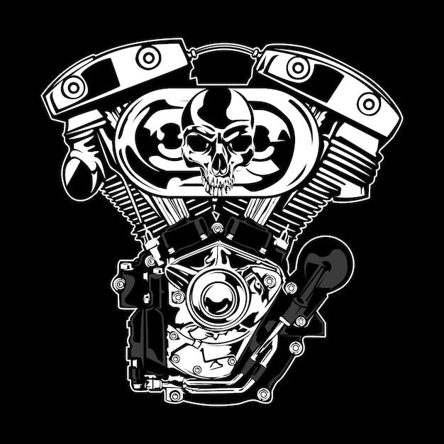 Design de motor de prata Vetor grátis