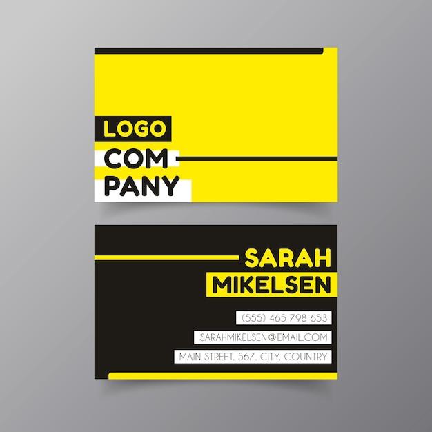 Design de néon de cartão de visita Vetor grátis