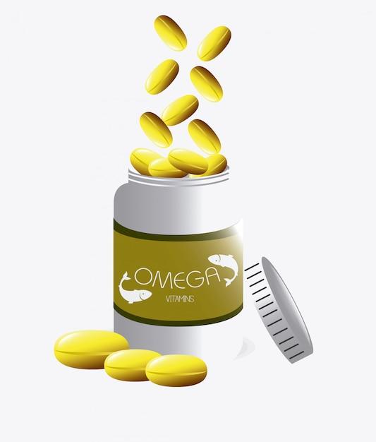 Design de óleo omega. Vetor Premium