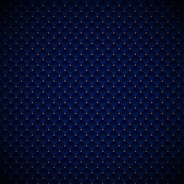 Design de padrão abstrato geométrico azul luxo quadrados Vetor Premium