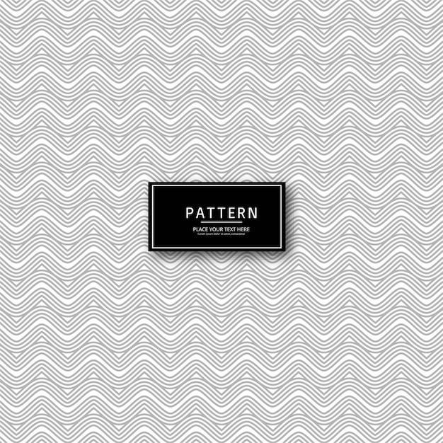 Design de padrão elegante linhas geométricas abstratas Vetor grátis