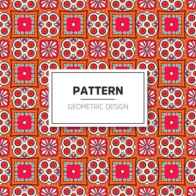Design de padrão geométrico luxuoso Vetor grátis