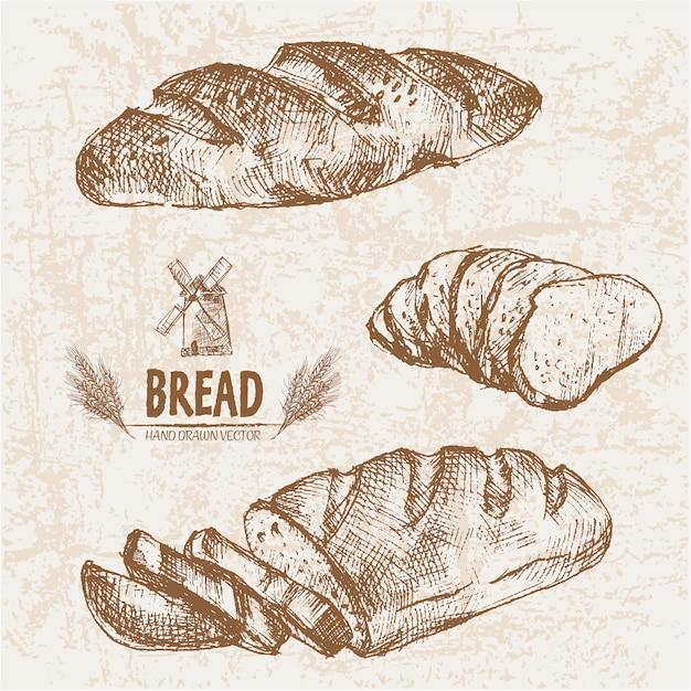 Design de pão realista Vetor Premium