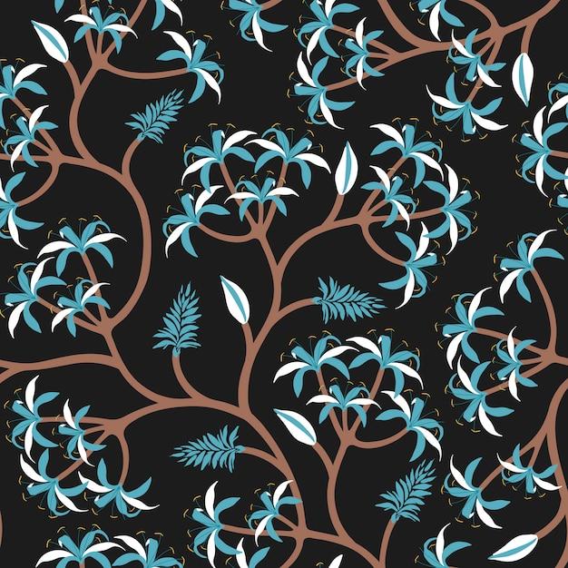 Design de papel de parede de ramo de planta natureza Vetor grátis