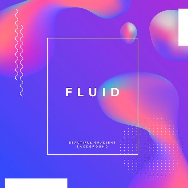 Design de papel de parede fluido gradiente Vetor grátis