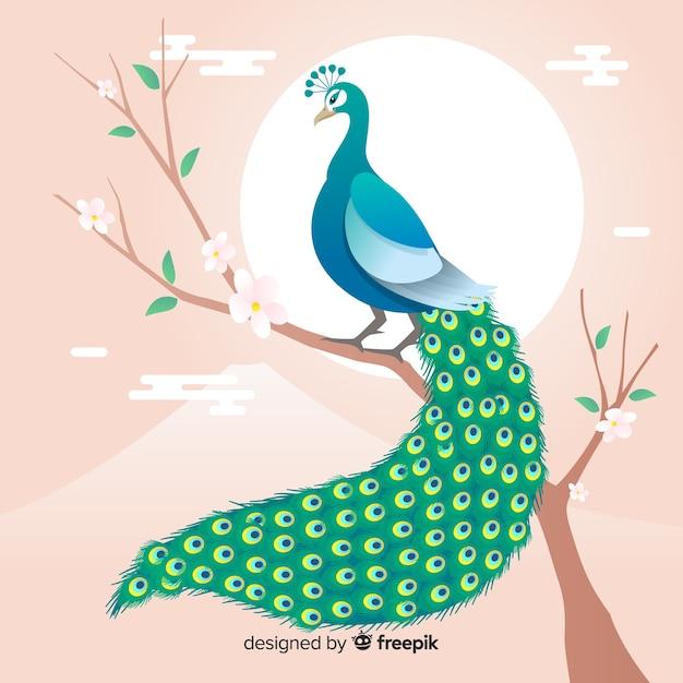 Design de pavão criativo Vetor grátis