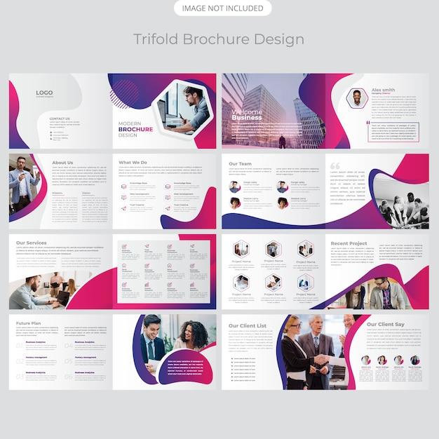 Design de perfil de paisagem de 16 páginas da empresa Vetor Premium