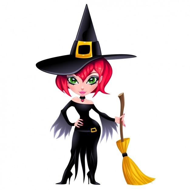 Design de personagens witch Vetor grátis
