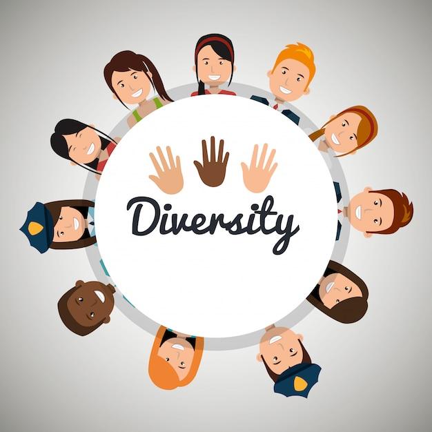 Design de pessoas de diversidade Vetor Premium