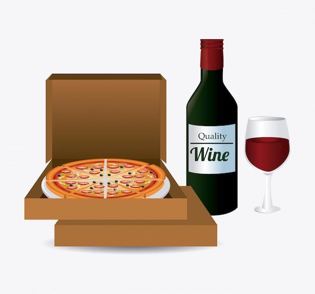 Design de pizza. Vetor Premium