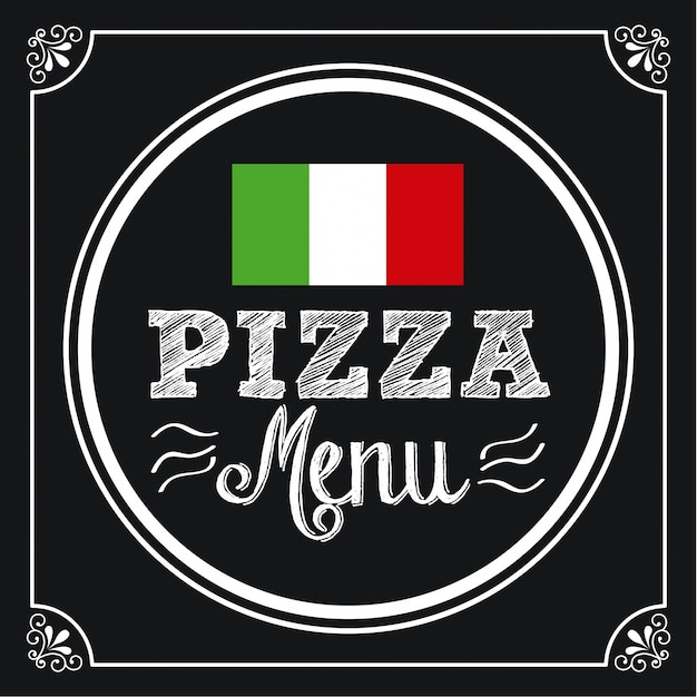 Design de pizza Vetor Premium
