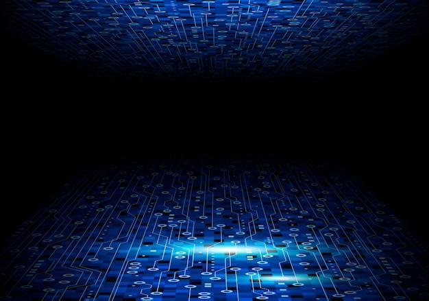 Design De Plano De Fundo Azul Placa De Circuito Para Tecnologia