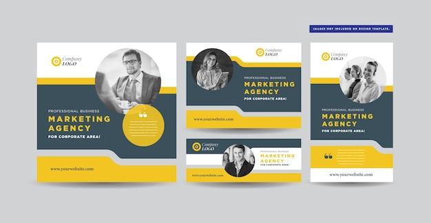 Design de postagem de mídia social Vetor Premium