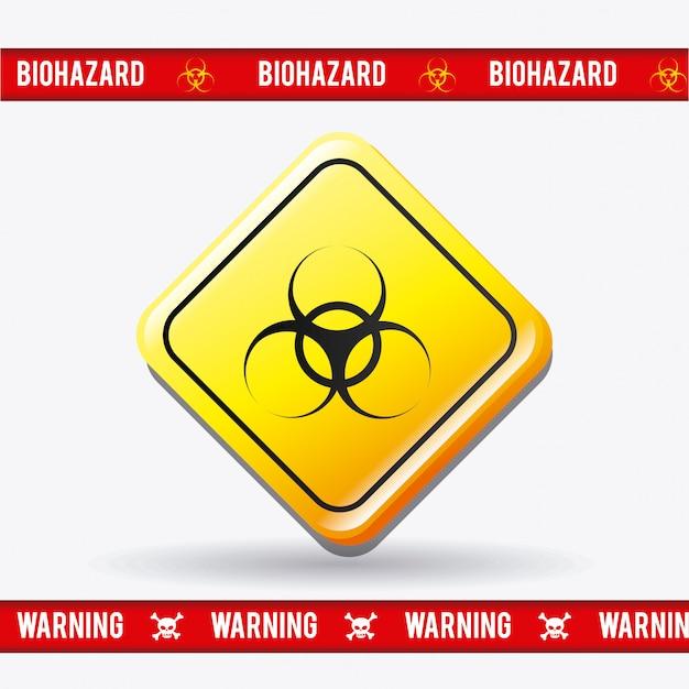 Design de publicidade de perigo. Vetor grátis