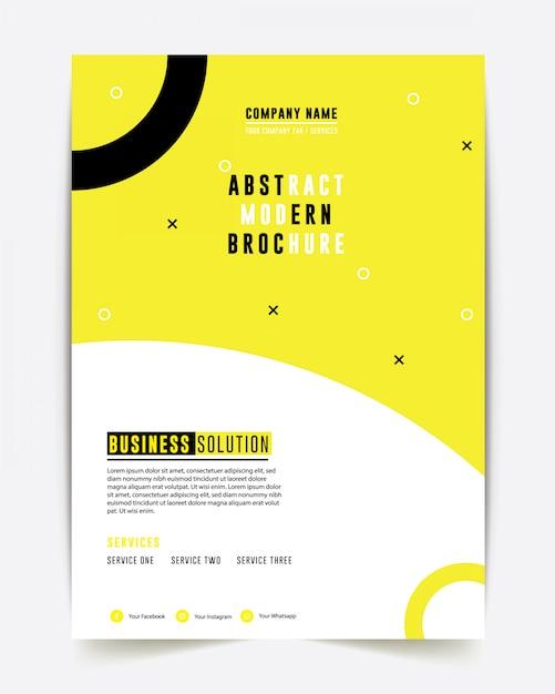 Design de relatório anual de brochura de negócios Vetor Premium