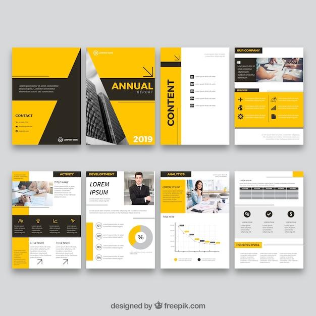 Design de relatório anual em estilo simples Vetor grátis