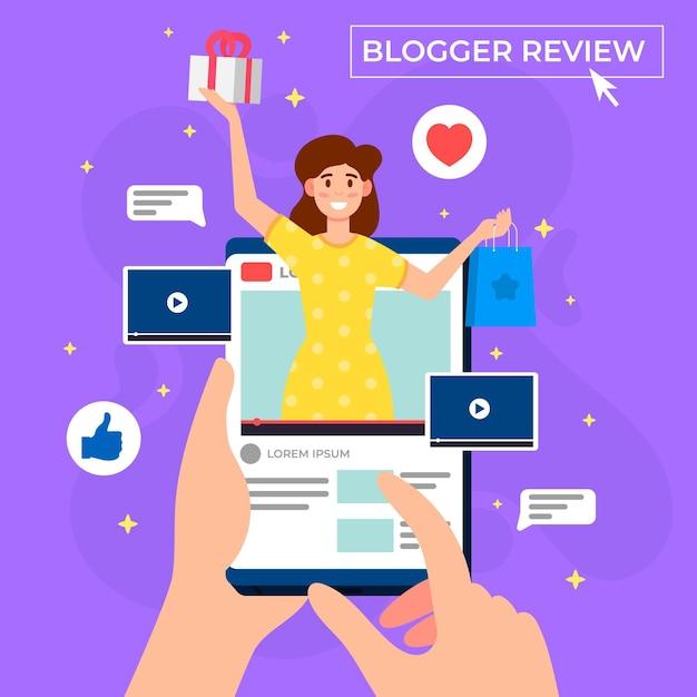 Design de revisão do blogger Vetor grátis