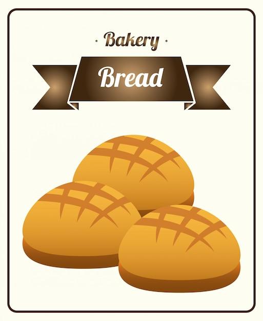 Design de rótulo de padaria, gráfico de vetor ilustração eps10 Vetor Premium