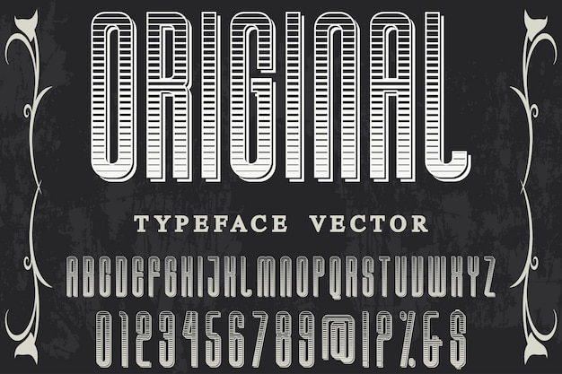 Design de rótulo de tipografia original Vetor Premium