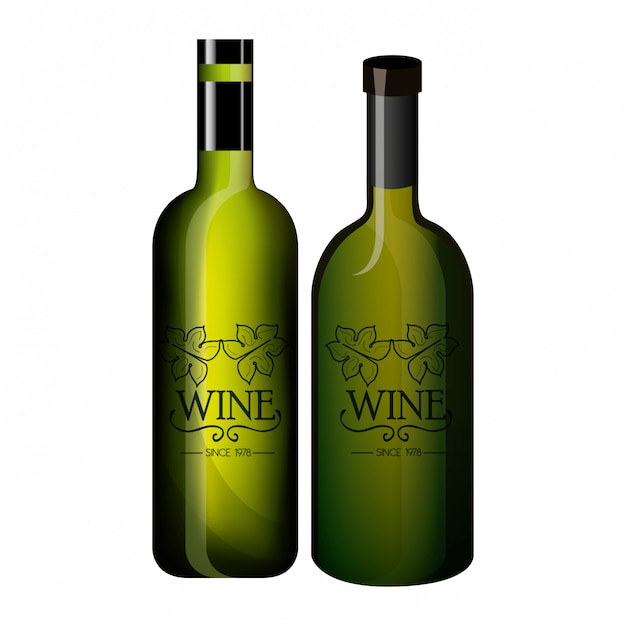 Design de rótulo de vinho isolado Vetor Premium