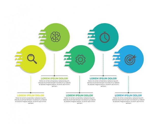 Design de rótulo infográfico Vetor Premium