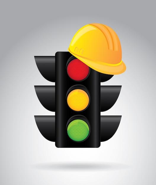 Design de semáforo Vetor Premium