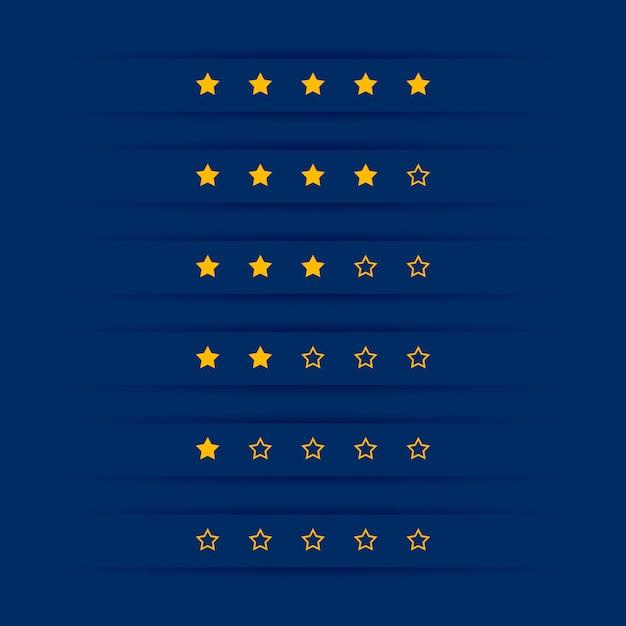 Design de símbolo de classificação por estrelas simples Vetor grátis