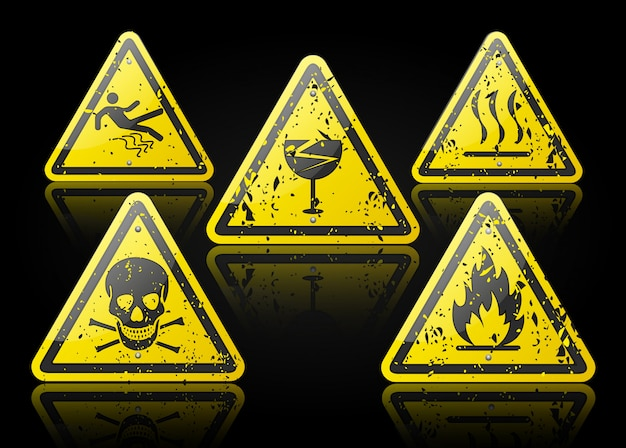 Design de sinal de perigo Vetor Premium