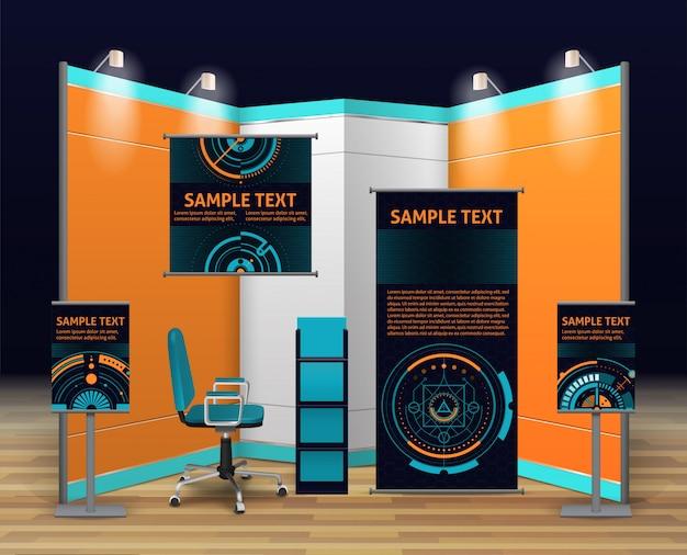 Design de stands de exposição Vetor grátis