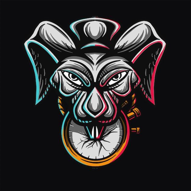 Design de t-shirt de coelho mágico Vetor Premium